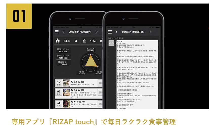 RIZAP(ライザップ)食事管理アプリ